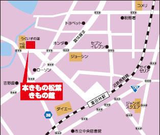 きもの館地図